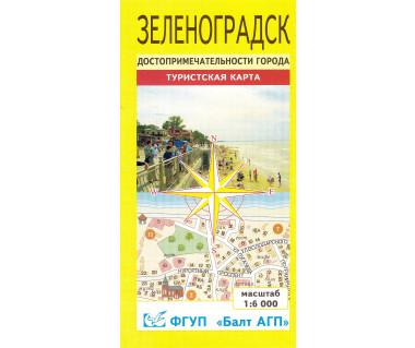 Zielonogradsk mapa miasta