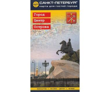 Petersburg - plan miasta, centrum