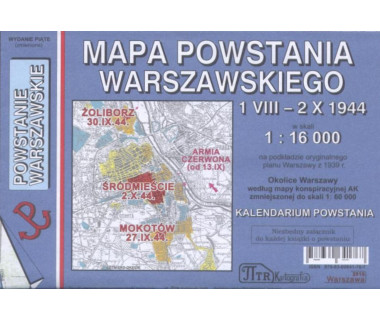 Powstanie Warszawskie mapa