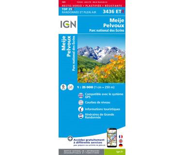 IGN 3436 ETR Meije / Pelvoux / Parc national des Ecrins