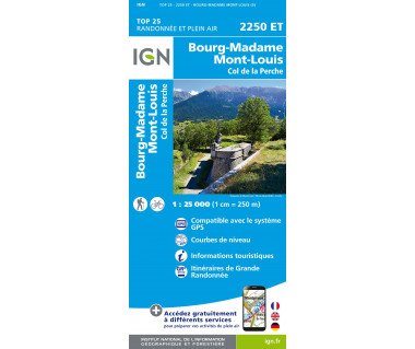 IGN 2250 ET Bourg-Madame / Mount-Louis / Col de la Perche