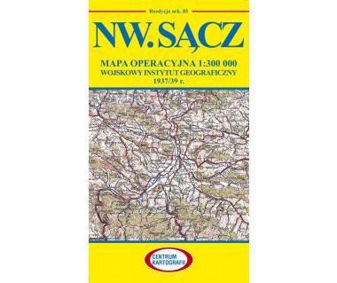 Nw. Sącz mapa operacyjna ark. 85 reedycja WIG 1937/39r.