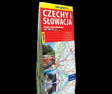 Czechy i Słowacja mapa samochodowa