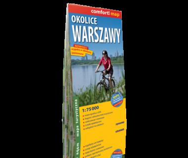Okolice Warszawy mapa laminowana