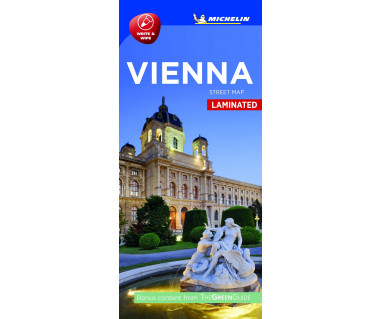 Vienna street map laminated