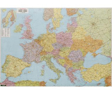 Europa mapa polityczno-drogowa 170cm x 120cm