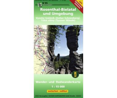 Rosenthal-Bielatal und Umgebung - Hoher Schneeberg - Tyssaer Wände