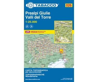 TAB026 Prealpi Giulie, Valli del Torre