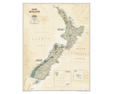 New Zealand antique flat map