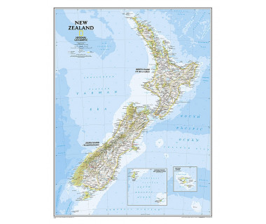 New Zealand flat map
