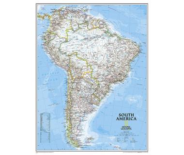 America South pol. enlarged flat laminated