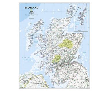 Scotland flat map
