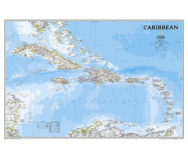Caribbean flat map