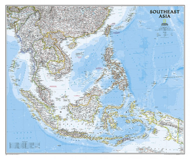 Asia South East pol. flat map