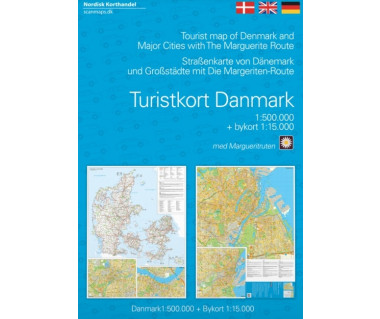 Denmark tourist map + Marguerite route