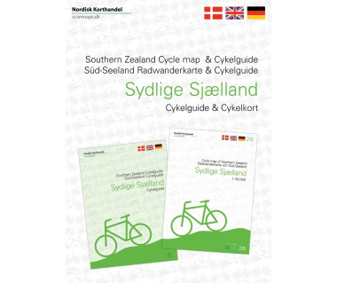 Southern Zealand - Denmark cycle map + guide