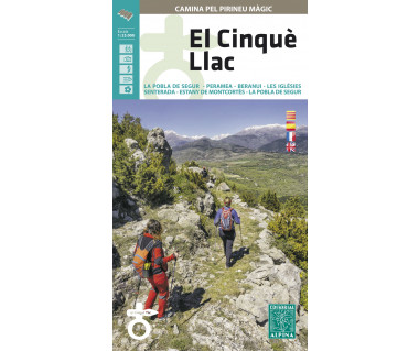 El Cinqué Llac hiking map & guide
