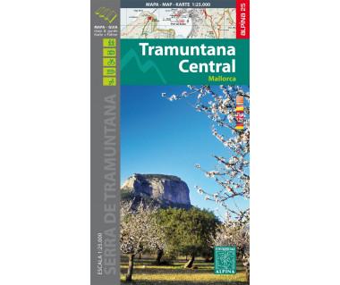 Mallorca -Tramuntana Central GR11 map&hiking guide