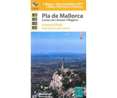 Mallorca Centr.Plain-East+South Coast hiking&MTB map&guide