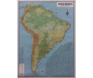 America South phys. flat laminated