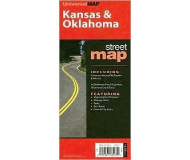 Kansas & Oklahoma state topfolded