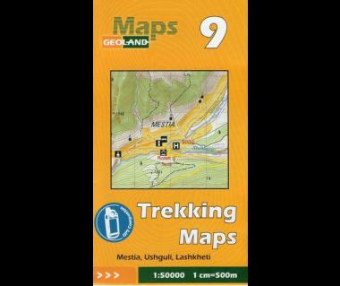 Gruzja mapa trekkingowa 9 (Mestia, Ushguli, Lashkheti)