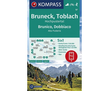 K 57 Bruneck, Toblach, Hochpustertal, Brunico, Dobbiaco, Alta Pusteria