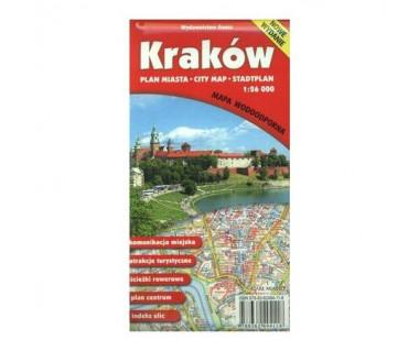 Kraków plan foliowany