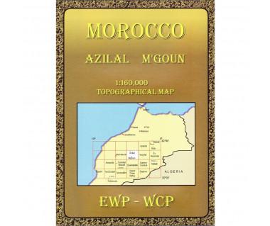 Morocco Azilal M'goun - Mapa