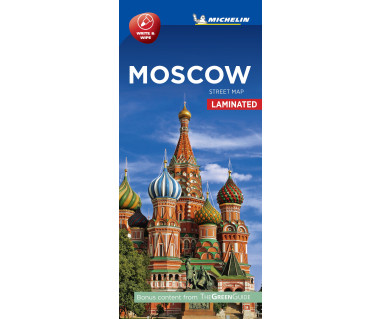 Moscow street map laminated