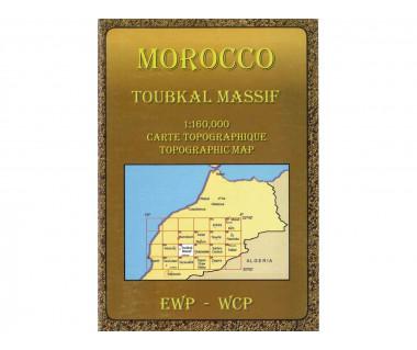 Morocco Toubkal Massif - Mapa