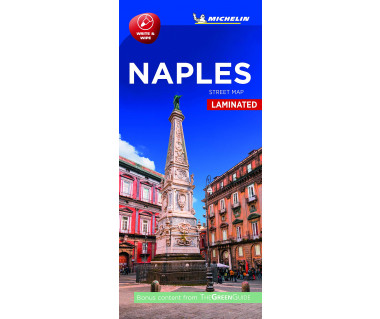 Naples street map laminated