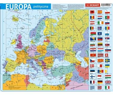 Puzzle ramkowe Europa mapa polityczna