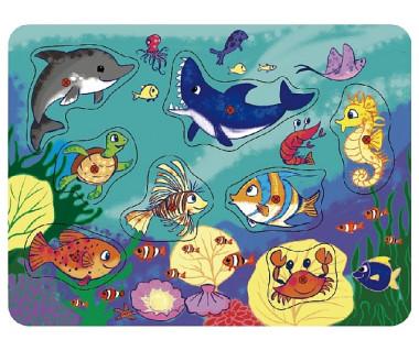 Układanka drewniana - Puzzle Zwierzęta Morskie
