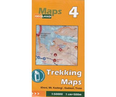 Gruzja mapa trekkingowa 4 (Khevi, Mt. Kazbegi, Gudauri,Truso)
