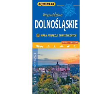 Województwo Dolnośląskie mapa atrakcji turystycznych