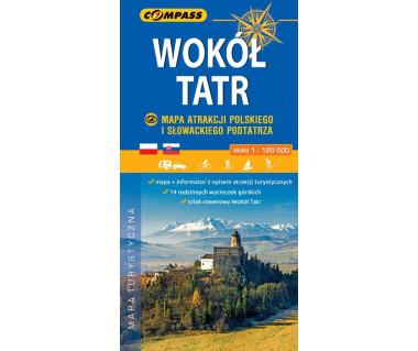 Wokół Tatr - mapa atrakcji polskiego i slowackiego Podtatrza
