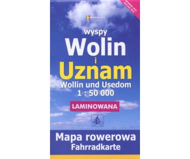 Wyspy Wolin i Uznam mapa rowerowa laminowana