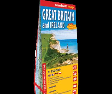 Great Britain and Ireland mapa laminowana