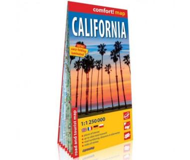 California mapa laminowana