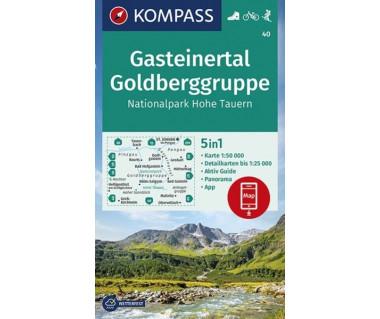 K 40 Wanderkarte Gasteinertal, Goldberggruppe, Nationalpark Hohe Tauern