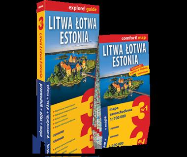 Litwa, Łotwa, Estonia (przewodnik+atlas+mapa)