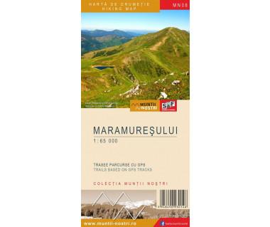 Maramuresului harta de drumetie/hiking map