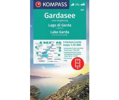 K 697 Gardasee und Umgebung (kpl. 3 mapy)