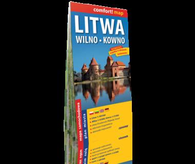 Litwa (Wilno, Kowno) mapa laminowana