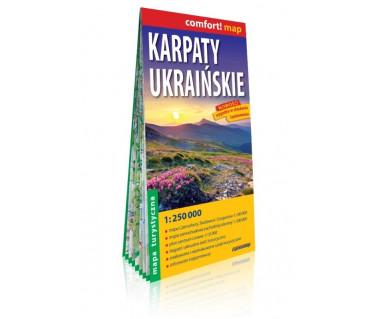 Karpaty Ukraińskie mapa laminowana