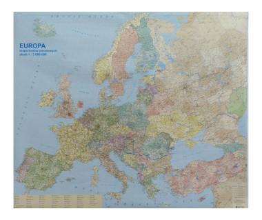 Europa mapa polit.-drogowa 100x120 cm 1:4700000