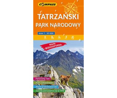 Tatrzański Park Narodowy mapa laminowana