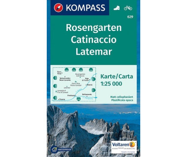 K 629 Rosengarten, Catinaccio, Latemar