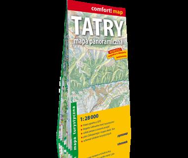 Tatry mapa panoramiczna